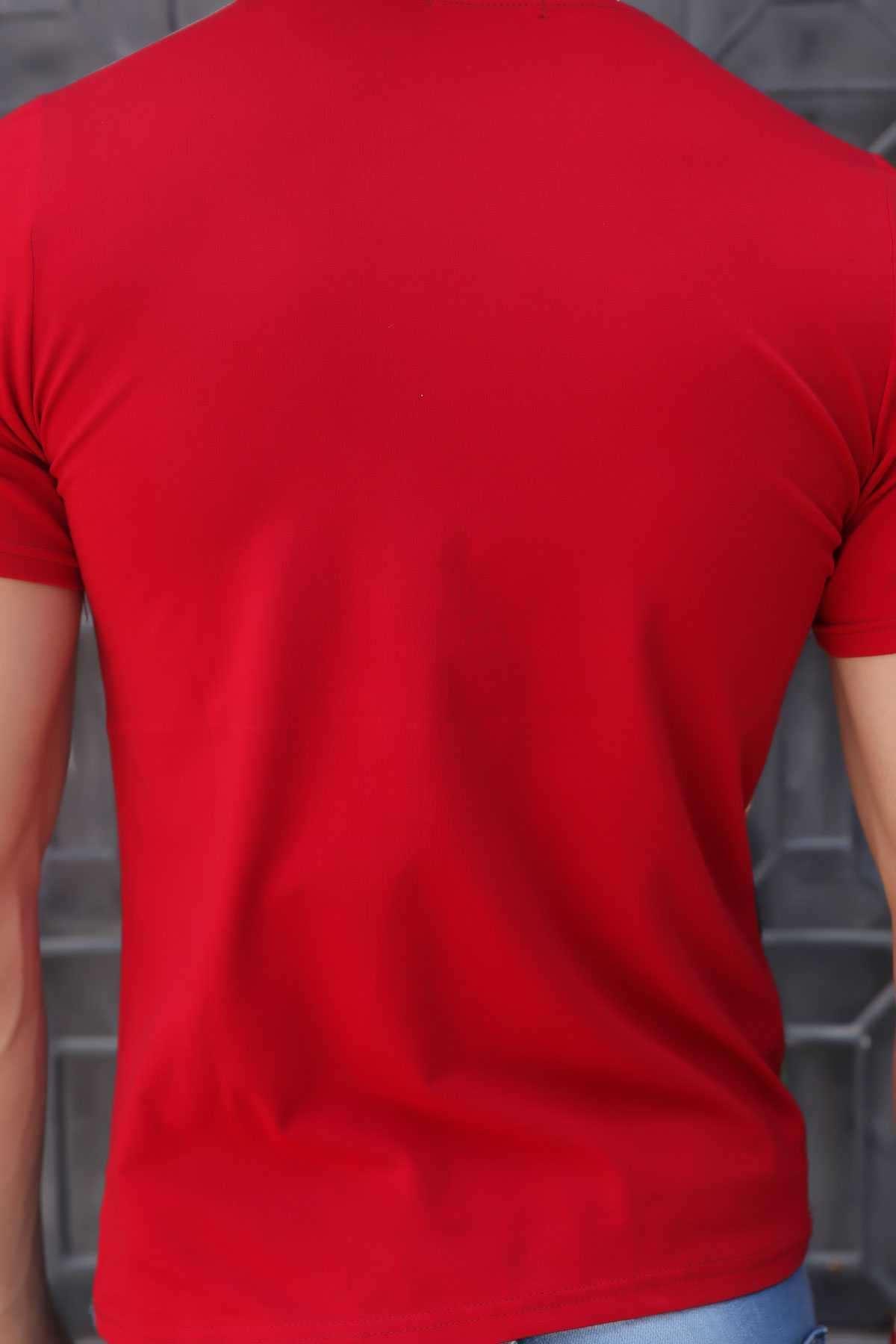 Paris Kule Baskı Sıfır Yaka Dijital Tişört Bordo